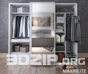 3d model wardrobe 2 free download