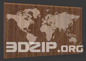 3d Wall map model free download