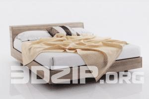3d Bed model 12 free download