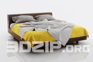 3d Bed model 4 free download