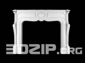 3D Decorative plaster Model 5