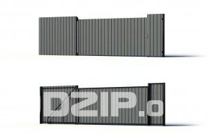 3D Metal fence Model 9 free download