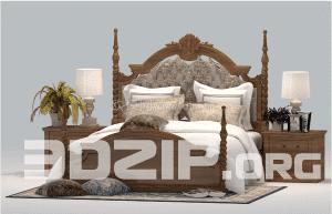 3d Bed model 27 free download