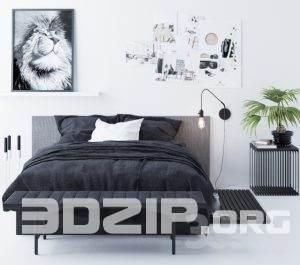 3d Bed model 23 free download