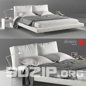 3d Bed model 24 free download