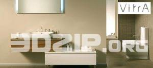 3D models Vitra bath 01 free download