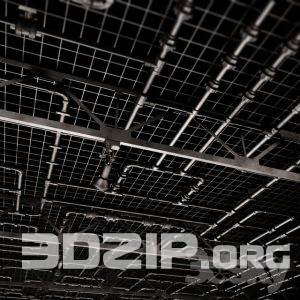3D technical ceiling pipe 1 free download