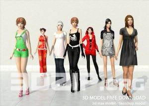 3d People model 4 free download