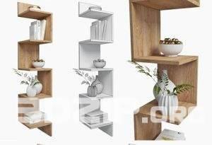 3d Book shelves Model 3 free download