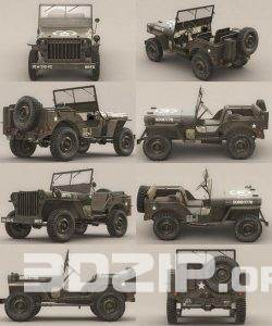 US Army Willys Jeep – B – 3D Model 3 full download