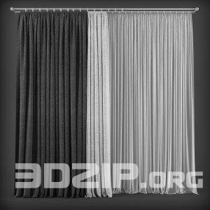 3d Curtain Model 2 free download