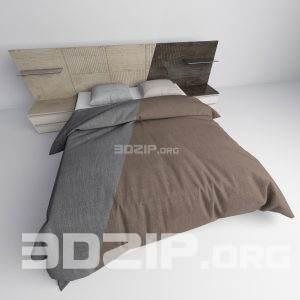 3d Bed model 32 free download