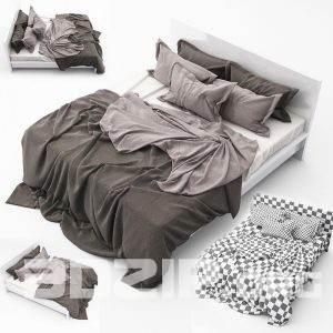 3d Bed model 35 free download