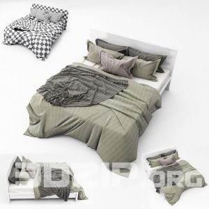 3d Bed model 36 free download