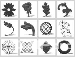 3d sketchup model Iron decoration 1 free download