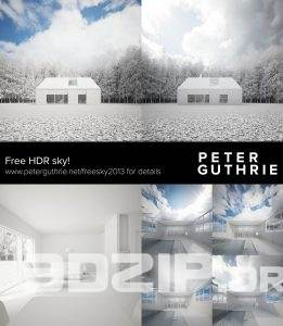 Peter Guthrie has shared today this free HDRI sky high quality