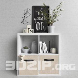 3d decorative cabinets model 5 free download