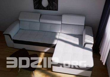 Corner Sofa 3D Model 63 free download