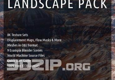 Landscape Pack Meshes in OBJ format