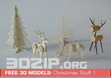 Free 3D Models: Christmas Stuff by Slice Cube Team