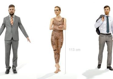 Free 3D Scanned People from AXYZ Design