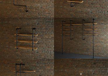 Free Pipe Shelves Model by Iskren Marinov