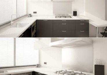 Modern Black And White Kitchen In Emmen from NVUS Design