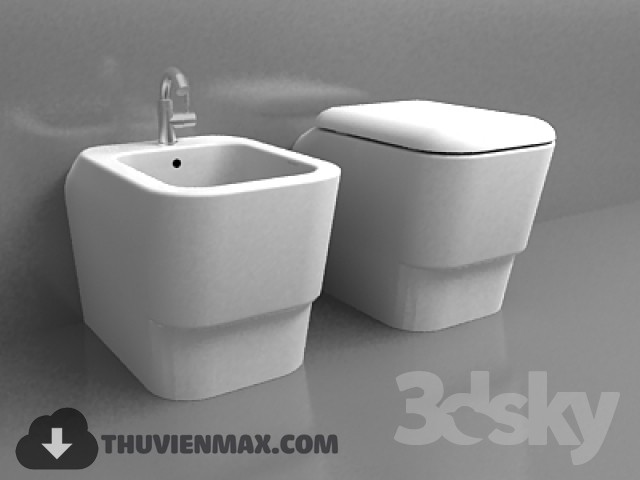 3D models Toilet and Bidet 1 free download