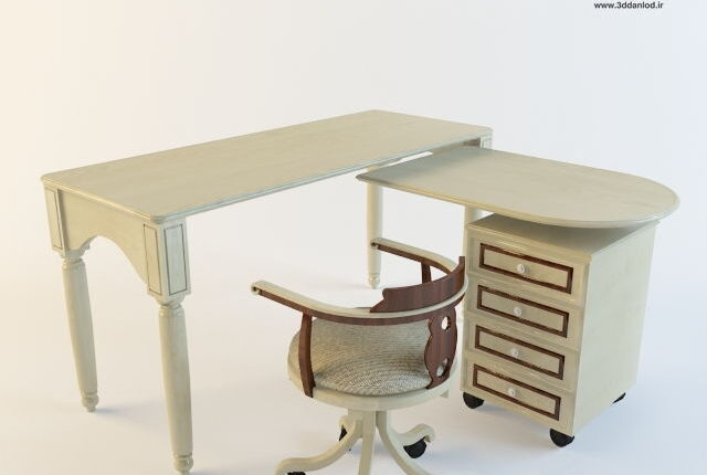 3d childroom Table + Chair Model 18 free download