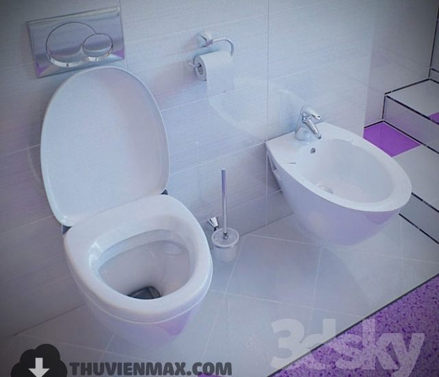3D models Toilet and Bidet 6 free download