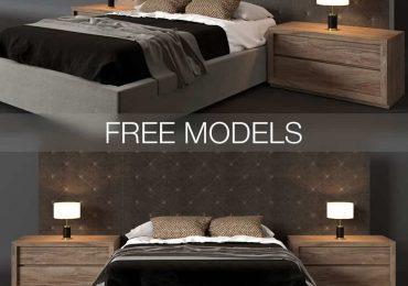 Free Bed RH 3D Models from Aleksander Gorbachev