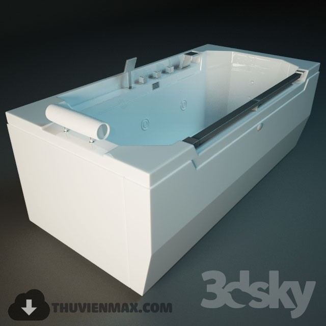 3D model Bathtub and Shower cubicle 118 free download