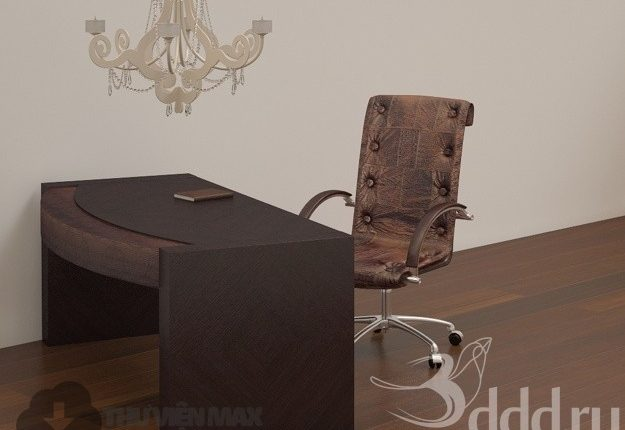 3D desks and chairs set 88 download