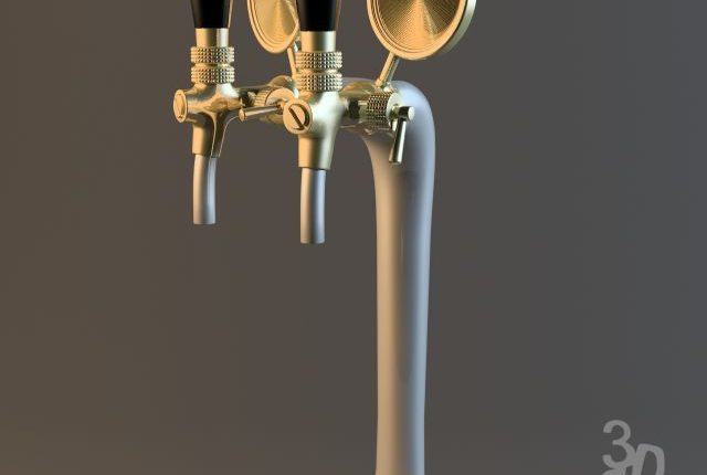 Bar beer tap - 3Dzip ORG - 3D Model Free Download