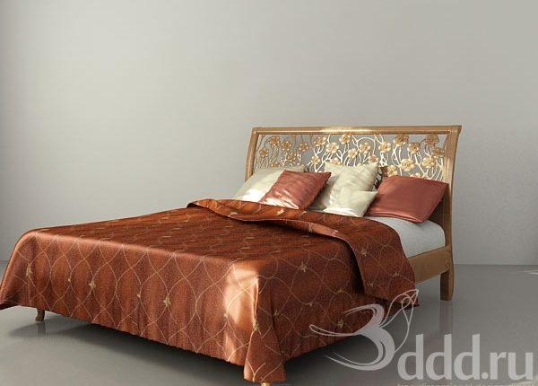 Free 3D Bamar Art862-G Floriade Bed