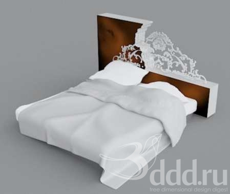 Free 3D Models Bed RUDEBRAVO