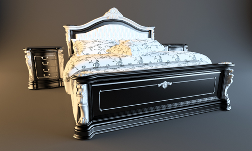 Free 3D Models Bed classic fgh