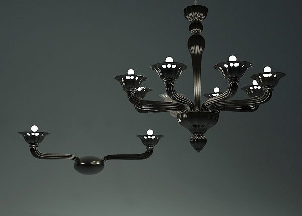 Chandelier and sconces