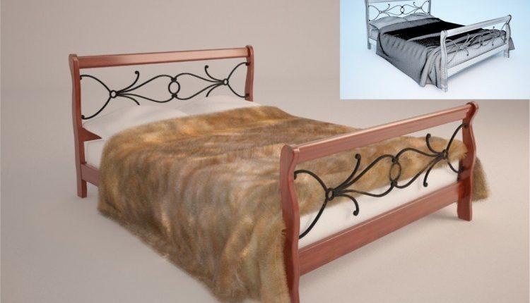 Free 3D Models Bed fur