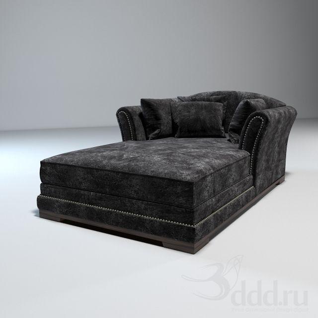 Free 3d Models Guillermot Double Chaise Longue Sofa Bed