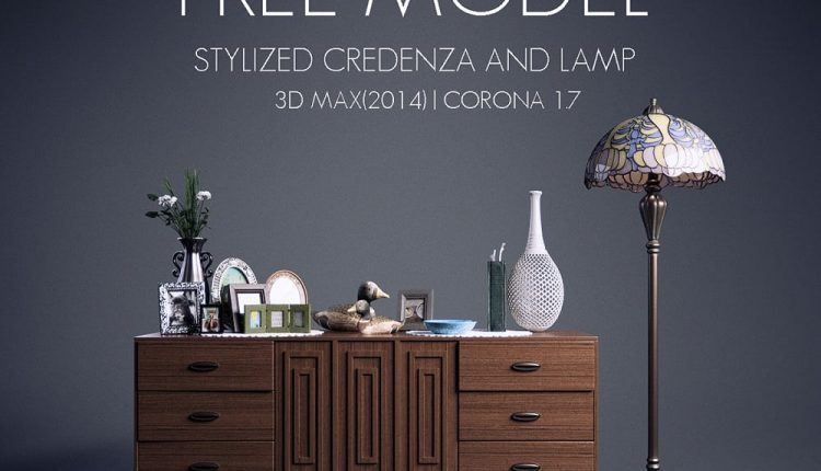 Free-Model-Credenza-and-Lamp