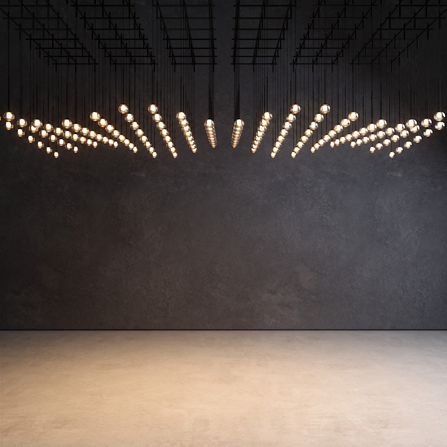 Free Model 3d Ceiling Light Vibia Algorithm
