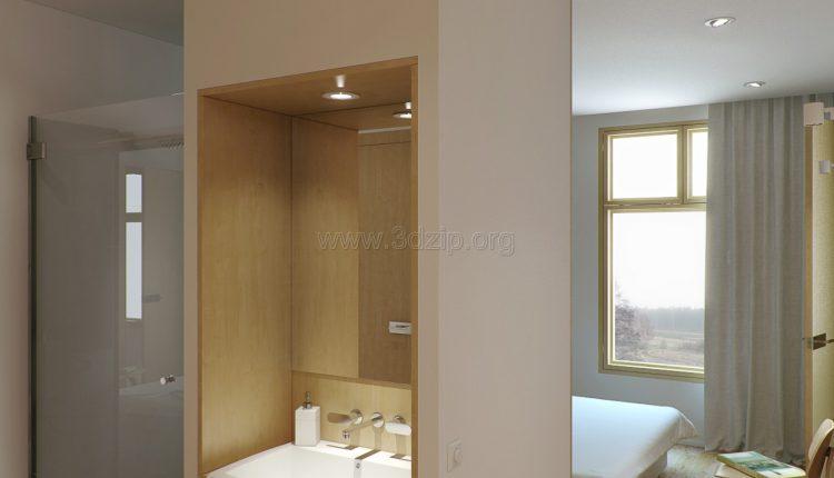 free-oleg-3d-wood-white-interior-scene (13)