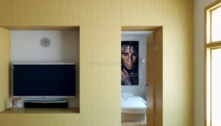 free-oleg-3d-wood-white-interior-scene (6)