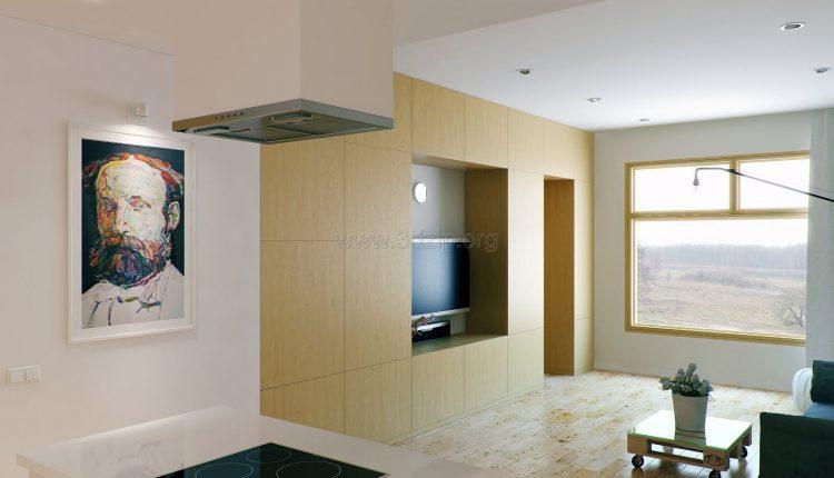 free-oleg-3d-wood-white-interior-scene (7)