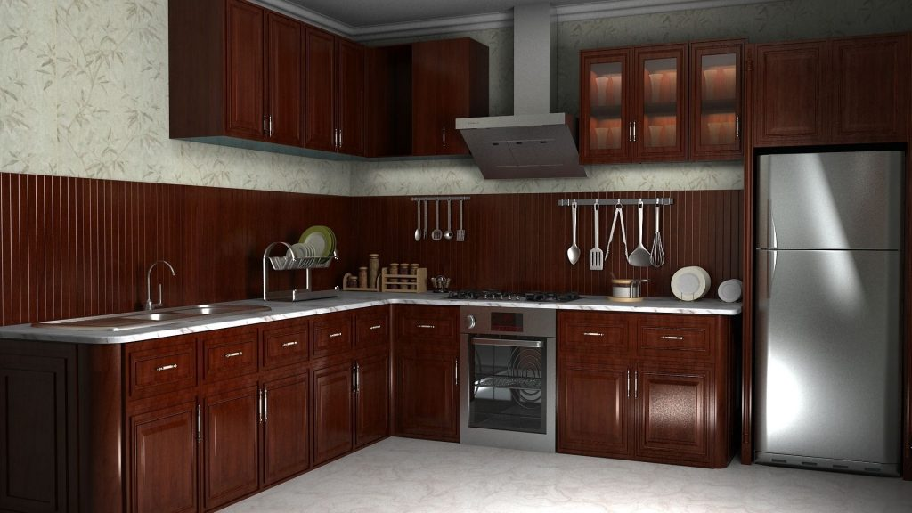 3dSkyHost: 3D Model Wooden Kitchen 70 Free Dowload