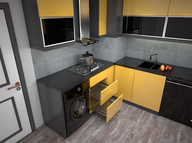3dSkyHost: 3D Model Kitchen 75 Free Dowload