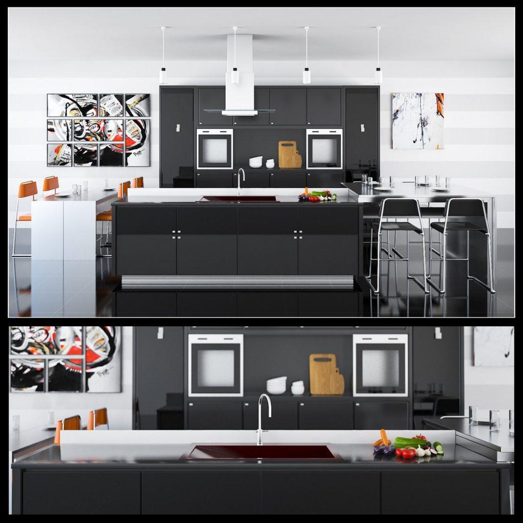 3dSkyHost: 3D Model Kitchen 91 Free Dowload