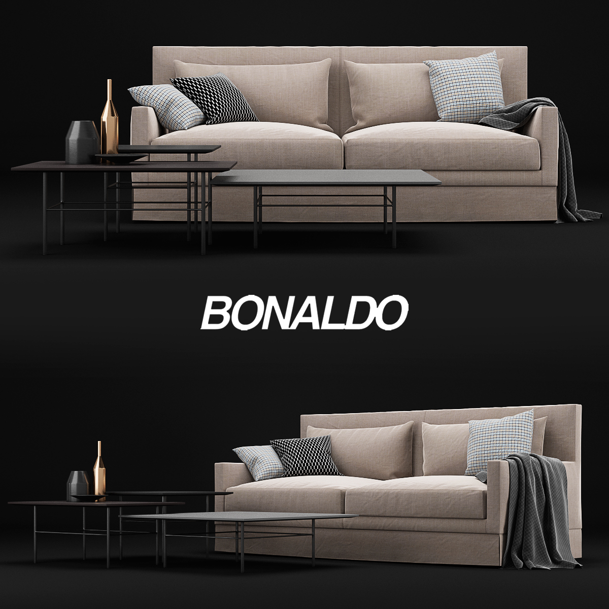 3D Model Bonaldo Paraiso Sofa Free Download