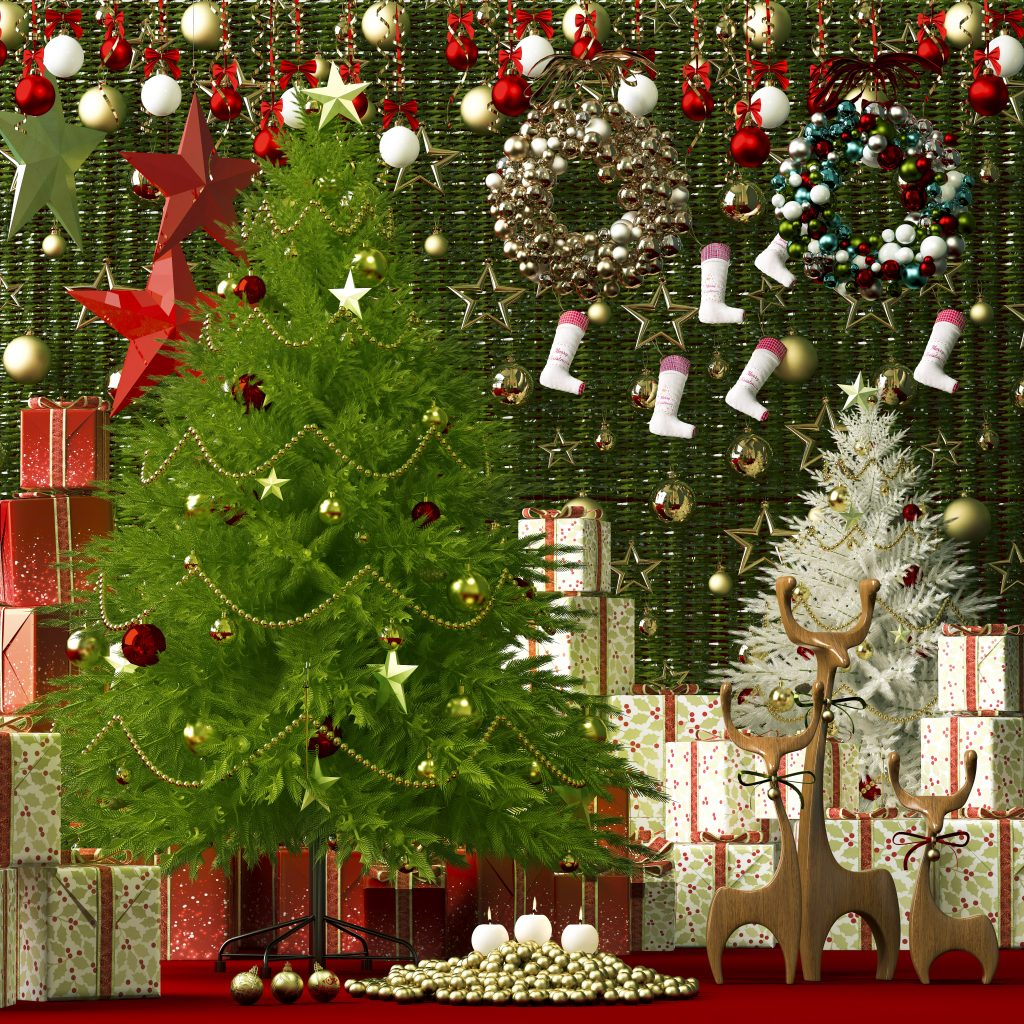 3d Model Decorative Set _Christmas Free Download